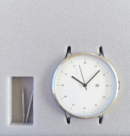 Instrmnt Watch Silver Face in Box - The Fussy Curator